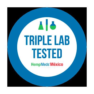 Aceite de CBD probado tres veces en laboratorio